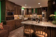 Mike and Jean Ysbrand of Maple Grove gained space for their remodeled kitchen by moving the adjacent casual dining area to the living room. Split Entry, Split Foyer, Cabin Kitchens, Cool Kitchens, Open Kitchens, Home Renovation, Home Remodeling, Kitchen Renovations, 70s Kitchen
