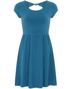 Teal bow back dress, Dorothy Perkins Bow Back Dresses, Short Sleeve Dresses, Maternity Fashion, Maternity Style, Pregnant Mother, Blue And White Dress, Dress To Impress, Dresses Online, Teal