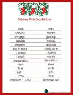 free printable christmas games for adults google search more