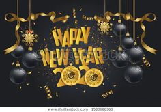 Happy New Year 2020 New Year Stock Image | Download Now