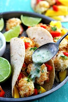 do-not-touch-my-food:  Coconut Shrimp Tacos