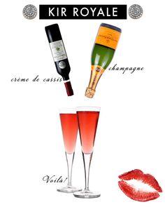 My Favorite Drink: Kir Royale #cocktail #champagne #drinks
