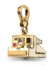 JUICY COUTURE NEW Vintage Camera Polaroid Charm Gold Beige Box NIB