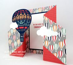 Lift Me Up Double Fold Gate Card featuring the Carried Away Designer Paper in the 2017 Sale-a-Bration catalog… #stampyourartout - Stampin' Up!®️️ - Stamp Your Art Out! www.stampyourartout.com