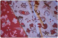 Brown Red Natibaby Tattooed Hemp Wrap