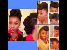 2 Chic Up-Do Styles on Natural Hair (Tutorial) - YouTube
