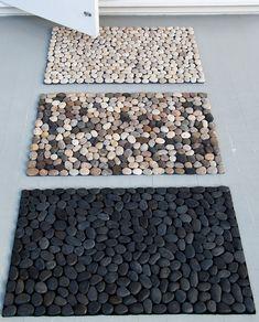 capacho de pedras, genial