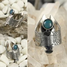 Egyptian scarab ring  www.lm6d.com Handmade and unique jewels