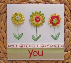 How to Make a Floral Valentines Card #Valentines #CardMaking #CraftChallenge