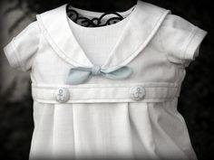BOY Blessing / Christening Outfit SAILOR NAUTICAL by knotsewshabby, $55.00
