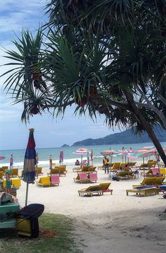 Patong Beach in Phuket, Thailand. We anchored off this beach in 1996 and 1998 on board USS Russell DDG-59