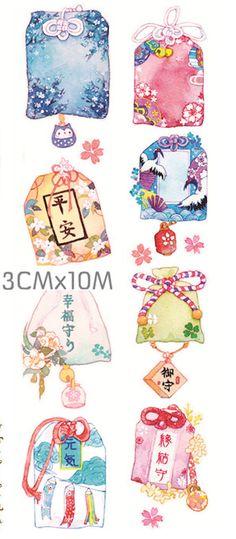 PRE-ORDER++++++++++ 1 Roll Limited Edition Washi Tape: Omamori