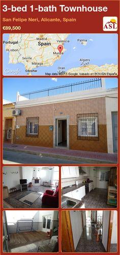 3-bed 1-bath Townhouse in San Felipe Neri, Alicante, Spain ►€89,500 #PropertyForSaleInSpain