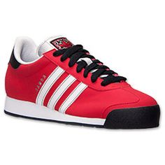 Men's adidas Samoa Casual Shoes | FinishLine.com | Light Scarlet/White/Black