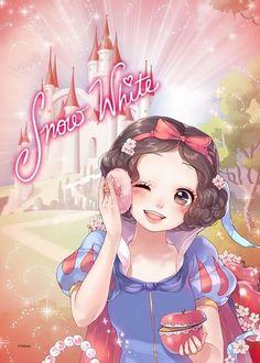 Disney & Cartoon In Anime - Disney Princess - Страница 3 - Wattpad Disney Princesses And Princes, Disney Princess Drawings, Disney Princess Art, Disney Princess Pictures, Anime Princess, Disney Pictures, Disney Drawings, Disney Princess Snow White, Snow White Disney