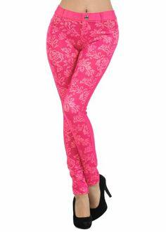 36921413b9dcc9 Fashion Mic Flower Pattern Jegging - Multiple Colors (S/M, black) at Amazon  Women's Clothing store: Leggings Pants