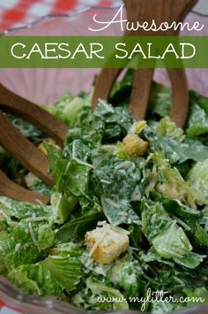 For a hearty salad, make Food Network Kitchen's Caesar Salad Dressing recipe, then pair it with homemade croutons and crunchy romaine lettuce. Easy Salad Recipes, Easy Salads, Summer Salads, Dinner Recipes, Easy Meals, Caesar Salad Recipes, Ceasar Salad Recipe Easy, Chicken Ceaser Salad Recipe, Caesar Recipe