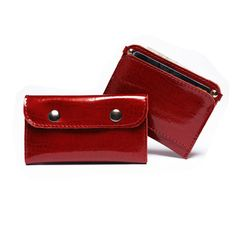 Stylish handmade leather key case & wallet case by BrandiaManufacture #leather #case #key #holder #wallet #sleeve #credit #card #handmade #craft #red #unique #women #gift