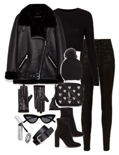 """""""Untitled #5148"""" by theeuropeancloset on Polyvore featuring rag & bone, Topshop, Yves Saint Laurent, Gianvito Rossi, H&M, Le Specs and Bobbi Brown Cosmetics"""