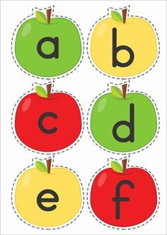Back to School Literacy Centers for Kindergarten. Apple sorting activity: sorting lower case letter, upper case letters and number. Can also use these cared for alphabet and number order. Toddler Learning Activities, English Activities, Preschool Education, Letter Activities, Preschool Letters, Kindergarten Centers, Literacy Centers, Alphabet Flash Cards Printable, September Preschool