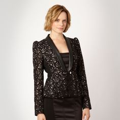 Life Made Fabulous... Star by Julien Macdonald Black structured lace jacket