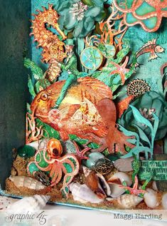 Octopus Garden diorama, Voyage Under the Sea, Maggi Harding, Graphic 45