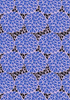 Triangles Blue pattern by Frida Westholm | Society6