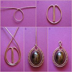 Wire Jewelry tutorials This looks so cool. Would look really pretty with a tigers eye bead. Wire Wrapped Jewelry, Metal Jewelry, Beaded Jewelry, Women's Jewelry, Wire Wrapped Stones, Jewellery Nz, Ribbon Jewelry, Designer Jewellery, Vintage Jewellery