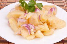 Hawaiian Pizza, Fruit Salad, Cantaloupe, Potato Salad, Potatoes, Ethnic Recipes, Food, Recipies, Vinegar