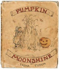 "Tasha Tudor's ""Pumpkin Moonshine"" in dust jacket rare first book"
