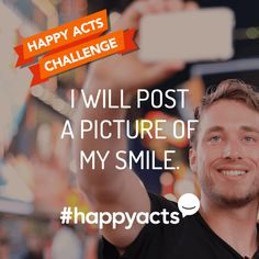 Perform to make someone's day a little brighter. Join Live Happy and help make the world a happier place Live Happy, Happy Life, Happy National Day, International Day Of Happiness, Challenge Me, I Smile, Better Life, Acting, March