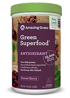 Amazing Grass Green Superfood Antioxidant Sweet Berry 60 servings 148 Ounces ** Amazon most trusted e-retailer #OrganicProteinSupplement