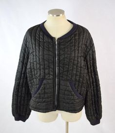 Vintage 70s Retro JC PENNEY Black Quilted Puffer Zip Up Coat Bomber Jacket Sz XL | Clothing, Shoes & Accessories, Vintage, Women's Vintage Clothing | eBay!