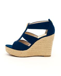 Damita Canvas Wedge by MICHAEL Michael Kors at Neiman Marcus.