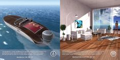 Product ads showcasing both segments: marine and home/furniture