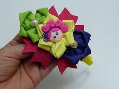 Tiara flores faciles , lazos navideños, balacas bautizo, Video 537,Ribbon flowers how to make - YouTube