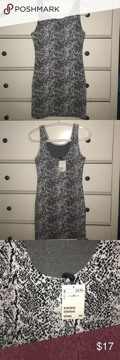 H&M BRAND NEW Women's 8 dress BRAND NEW with tag H&M Women's size 8. Black and White Print. H&M Dresses Mini