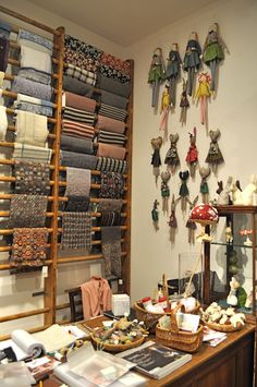 HenHouse...***Great way to store fabric- no folds and not piled on top of each other, so you can see what you have!