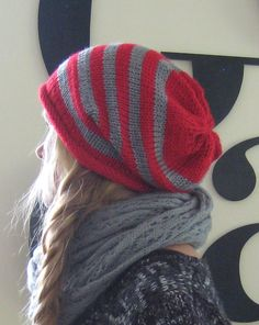 5c59628701c64 Beanie Slouchy Knitted Winter Hat   Men Women Teen by helenaCRAFTS