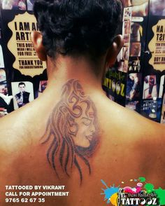 Lord shiva dotwork tattoo Placement :-Back Tattooed by Vikrant  call for Appointment 9765626735 #shivatattoo #dotworktattoo