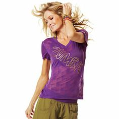 Zumba Shop Canada | Buy Remix Master V-Neck Tee - Cut 'N Paste Purple