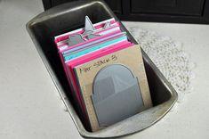 9/16/2010; Dawn McVey at 'Raspberry Suite' blog; homemade die storage