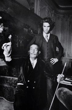 Salvador Dali With Young Fashion Designer Yves Saint Laurent (1971) : OldSchoolCool