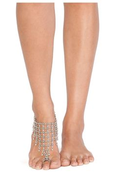 Natalie B Jewelry Queen's Veil Anklet in Silver | REVOLVE