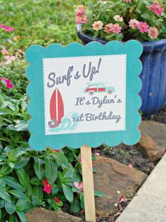 The Vintage Surf Collection  Custom Lawn Sign from Mary Had a