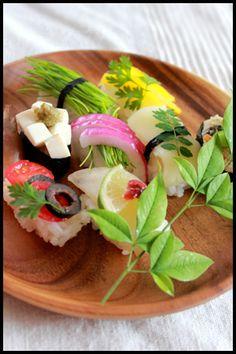カラフル野菜の握り寿司300kcal|ウーマンエキサイト みんなの投稿