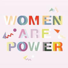 Women are Power/ motivational + inspirational quotes/ positivity/ word up/ typography design/ feminist art/ femme/ girl power/ female empowerment Letras Cool, Hipster Vintage, Schrift Design, Citations Film, Motivational Quotes, Inspirational Quotes, Quotes Positive, Feminist Quotes, Feminist Art