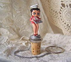 Vintage Betty Boop Wine Bottle Stopper by cynthiasattic on Etsy, $25.00