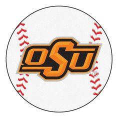 Oklahoma State Cowboys NCAA Baseball Round Floor Mat 29