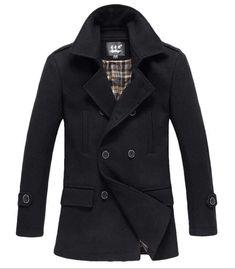 Men's Fashion Winter 2013: The Foster Wool Peacoat Black!